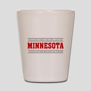 'Girl From Minnesota' Shot Glass