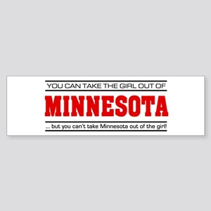 'Girl From Minnesota' Sticker (Bumper)
