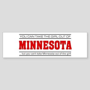 'Girl From Minnesota' Sticker (Bumper)