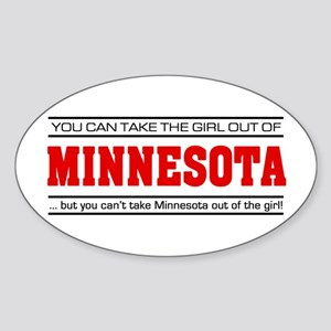 'Girl From Minnesota' Sticker (Oval)