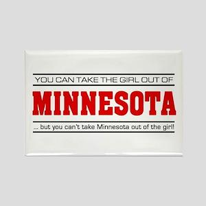 'Girl From Minnesota' Rectangle Magnet