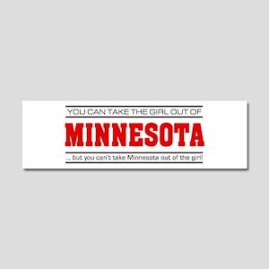 'Girl From Minnesota' Car Magnet 10 x 3