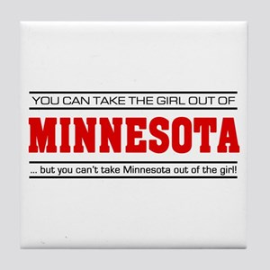 'Girl From Minnesota' Tile Coaster