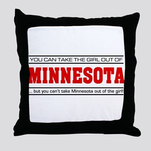 'Girl From Minnesota' Throw Pillow