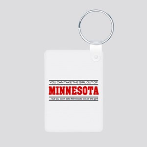 'Girl From Minnesota' Aluminum Photo Keychain