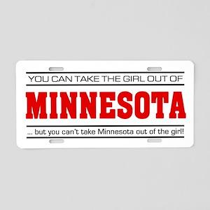 'Girl From Minnesota' Aluminum License Plate