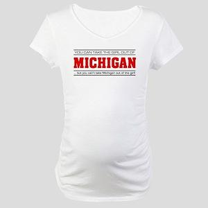 'Girl From Michigan' Maternity T-Shirt