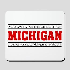 'Girl From Michigan' Mousepad