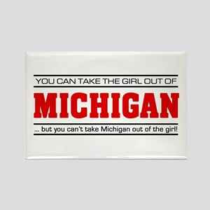 'Girl From Michigan' Rectangle Magnet