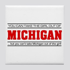 'Girl From Michigan' Tile Coaster