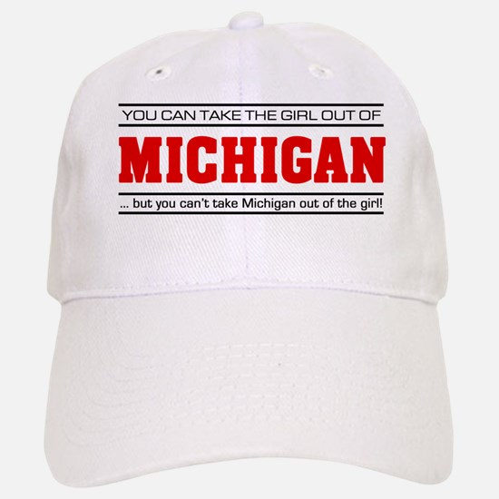 'Girl From Michigan' Baseball Baseball Cap