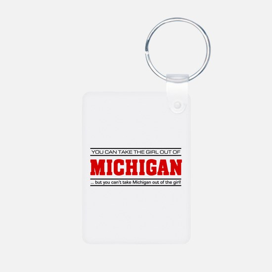 'Girl From Michigan' Keychains
