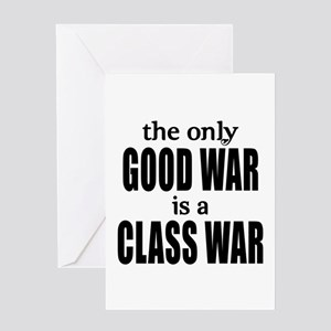 Occupy wall street greeting cards cafepress the only good war is a class war greeting card m4hsunfo