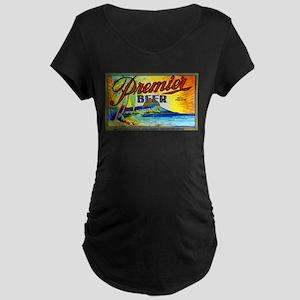Hawaii Beer Label 3 Maternity Dark T-Shirt