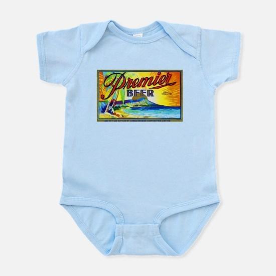 Hawaii Beer Label 3 Infant Bodysuit