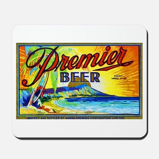Hawaii Beer Label 3 Mousepad
