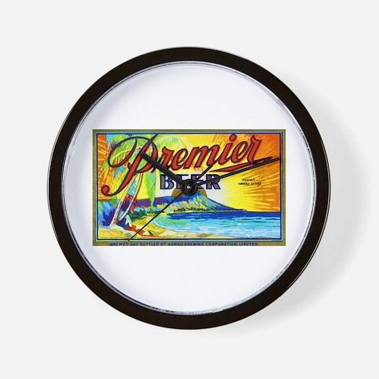 Hawaii Beer Label 3 Wall Clock