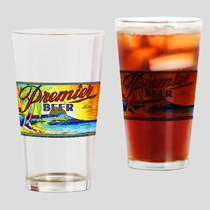 Hawaii Beer Label 3 Drinking Glass
