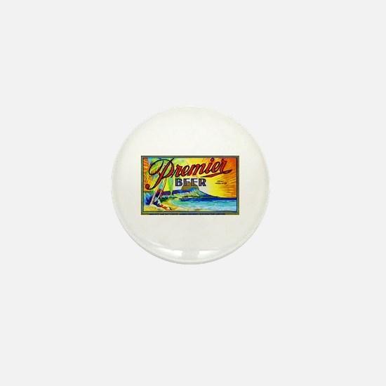 Hawaii Beer Label 3 Mini Button