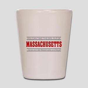 'Girl From Massachusetts' Shot Glass