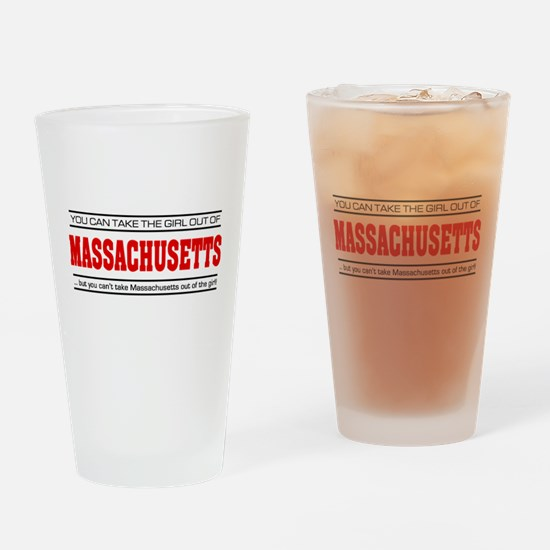'Girl From Massachusetts' Drinking Glass