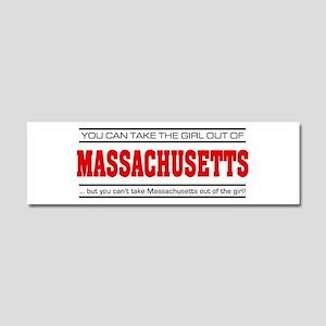'Girl From Massachusetts' Car Magnet 10 x 3