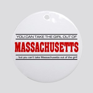 'Girl From Massachusetts' Ornament (Round)