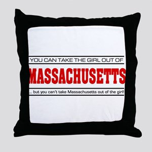 'Girl From Massachusetts' Throw Pillow