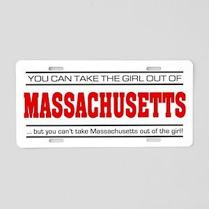 'Girl From Massachusetts' Aluminum License Plate