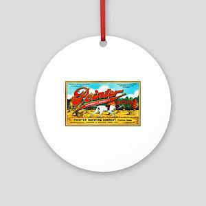 Iowa Beer Label 6 Ornament (Round)