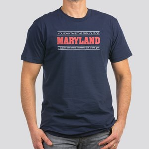 'Girl From Maryland' Men's Fitted T-Shirt (dark)