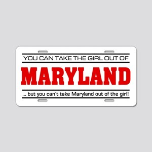 'Girl From Maryland' Aluminum License Plate