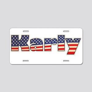 American Karly Aluminum License Plate
