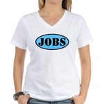 Occupy Wall Street Job Women's V-Neck T-Shirt
