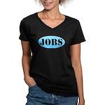 Occupy Wall Street Job Women's V-Neck Dark T-Shirt