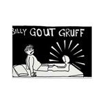 Billy Gout Gruff Rectangle Magnet