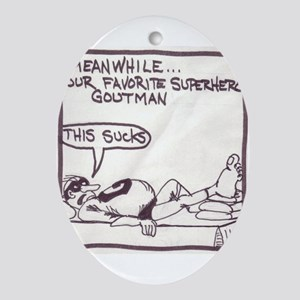 The Adventures of GoutMan Oval Ornament