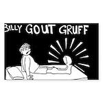 Billy Gout Gruff Rectangle Sticker