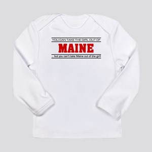 'Girl From Maine' Long Sleeve Infant T-Shirt