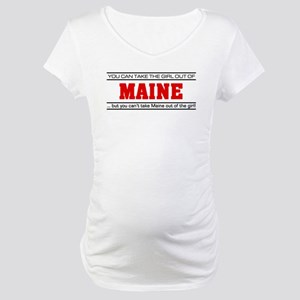 'Girl From Maine' Maternity T-Shirt