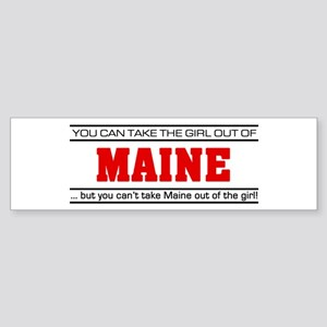 'Girl From Maine' Sticker (Bumper)