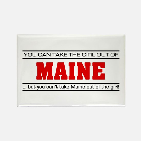 'Girl From Maine' Rectangle Magnet (10 pack)