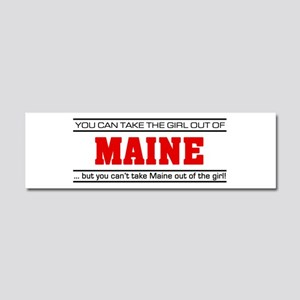 'Girl From Maine' Car Magnet 10 x 3