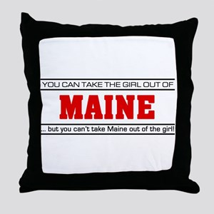 'Girl From Maine' Throw Pillow