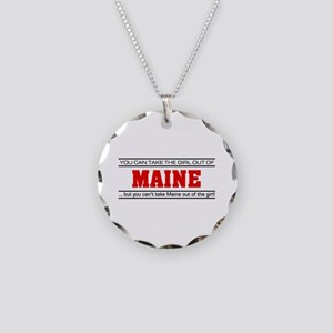 'Girl From Maine' Necklace Circle Charm