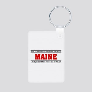 'Girl From Maine' Aluminum Photo Keychain