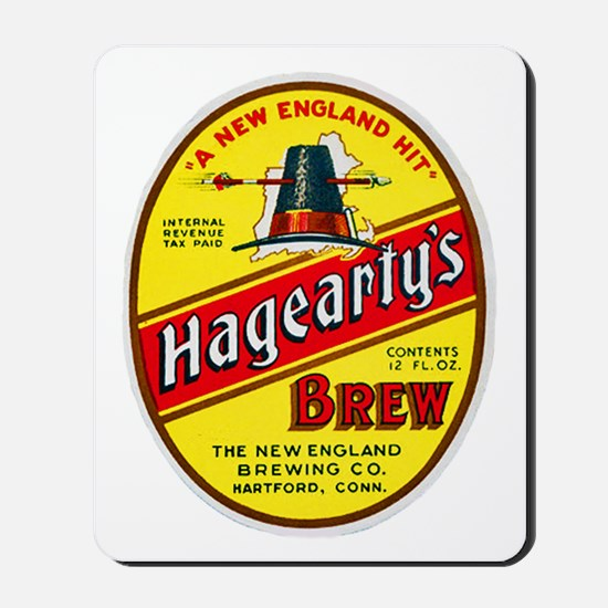 Connecticut Beer Label 3 Mousepad