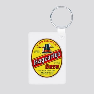 Connecticut Beer Label 3 Aluminum Photo Keychain