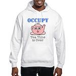 Occupy Wall Street Tea Time i Hooded Sweatshirt