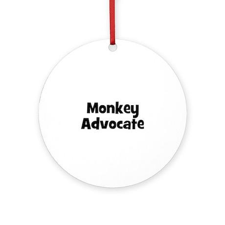 Monkey Advocate Ornament (Round)
